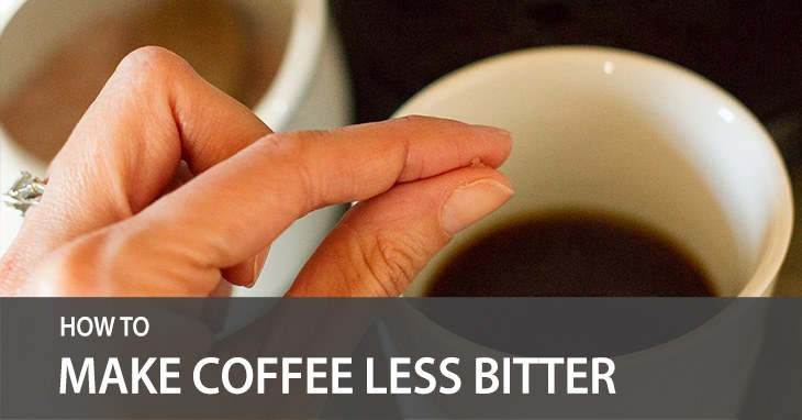 how to make coffee less bitter